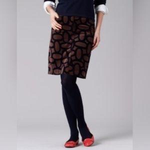 Boden Velvet Brown Career Mini Skirt